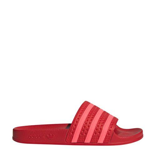adidas originals adilette badslippers rood/roze - Adidas ...