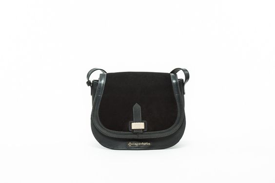 Rola Leather - Suede Mini Bag #Color_Black #Handbags #Material_Leather---Suede