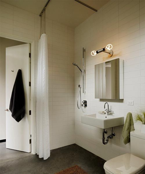 Trax Ceiling Mounted Shower Curtain Tracks Small Bathroom With