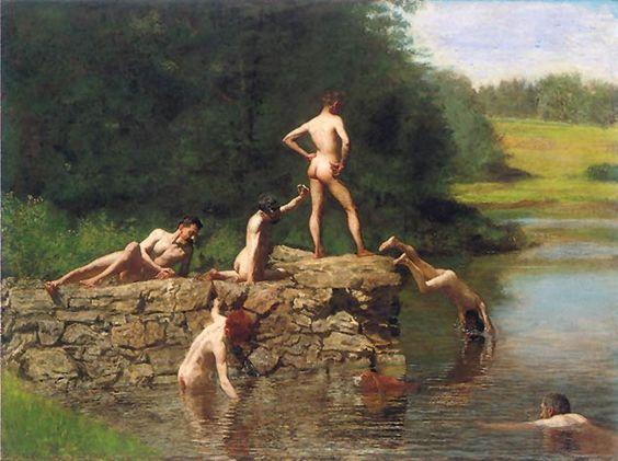 Thomas Eakins, Swimming, 1883-1885