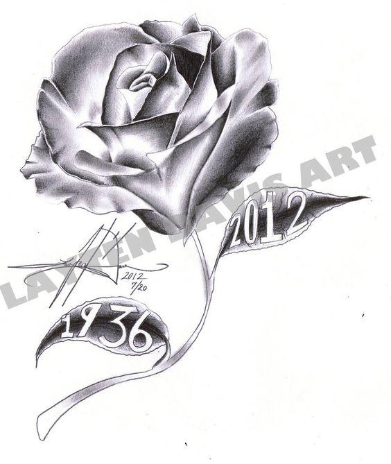 dessin tatouage fleur rose tatoo pinterest roses. Black Bedroom Furniture Sets. Home Design Ideas