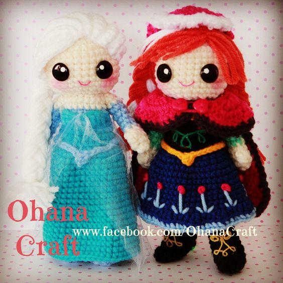 Crochet Elsa And Anna Dolls : Pinterest The world s catalog of ideas