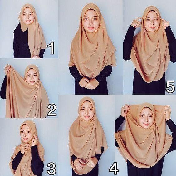 Tutorial Hijab Jumbo Segi Empat