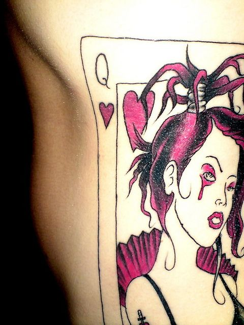 Queen of hearts tattoo queen of hearts flickr photo for Asso di cuori tattoo
