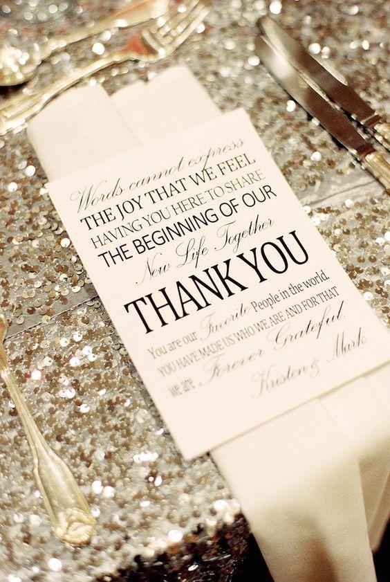 wedding thank you notes idea; photo: Nancy Aidee Photography