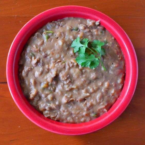 Pressure Cooker Refried Pinto Beans recipe. Chunky, rustic pinto beans ...