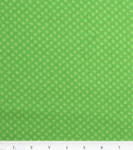 Keepsake Calico Cotton Fabric-Lined Dot Green