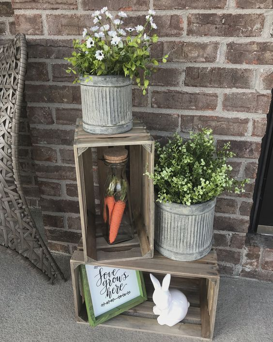 Facebook Twitter Pinterestdecorating The Entire House Inside And Out Is A Great Way To Add A Whims Spring Porch Decor Porch Decorating Small Porch Decorating