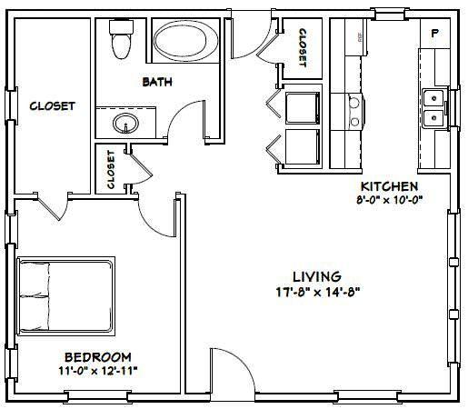 30x26 House 30x26h1b 780 Sq Ft Excellent Floor Plans