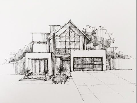 Architectural Sketching 01 Buildings Sketch Architecture