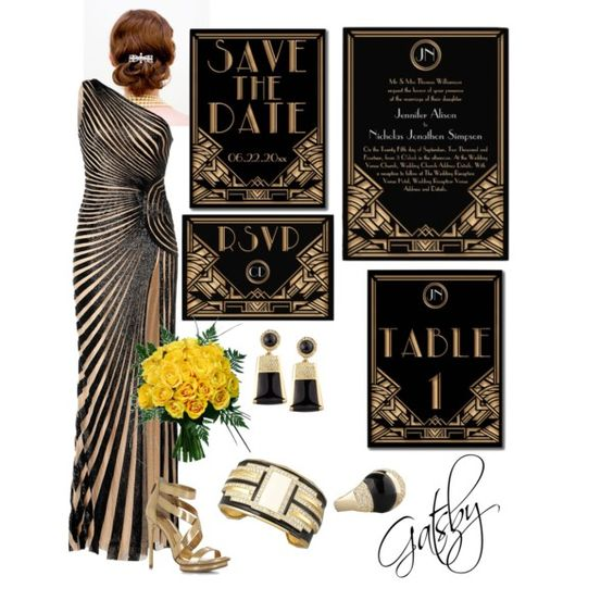 Great gatsby art deco wedding party art deco wedding for Deco inspiration
