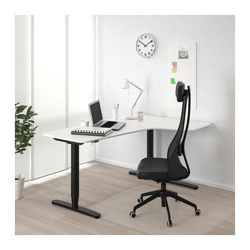 Bekant Corner Desk Right Sit Stand White 63x43 1 4 Ikea Bekant White Desks Ikea