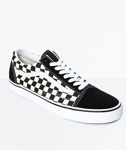 Vans Old Skool Black & White Checkered Skate Shoes | Skate