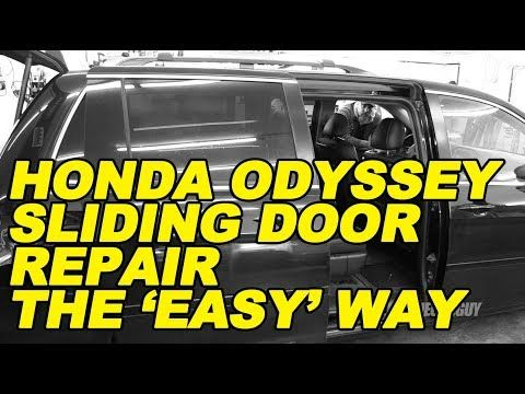 Honda Odyssey Sliding Door Repair The Easy Way Youtube Honda Odyssey Door Repair Sliding Doors