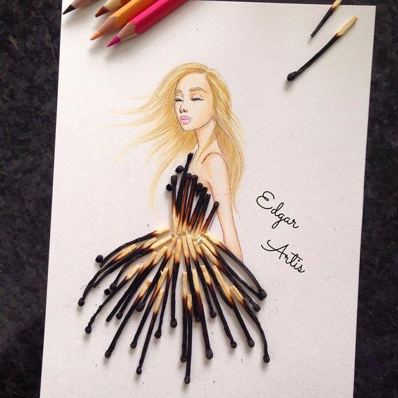 Desenhos criados com objetos do cotidiano Edgar Artis - Arte no Papel Online