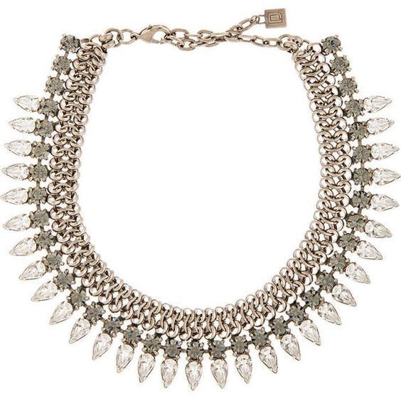 Dannijo Silver and Crystal Handmade Whistler Choker ($385) ❤ liked on Polyvore featuring jewelry, necklaces, silver, silver choker necklace, swarovski crystal necklace, silver choker, white crystal necklace and white choker necklace