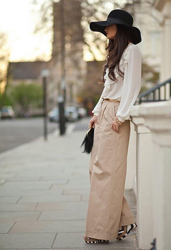 un sombrero negro, el complemento perfecto