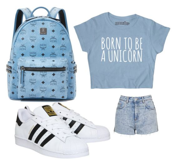 """Casual outfit"" by f-melone on Polyvore featuring MCM, Topshop and adidas"