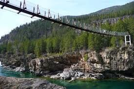 Sorry, pics of swinging bridge in montana
