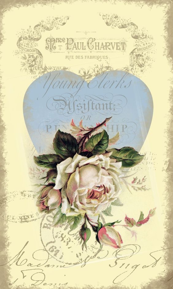 french country decoupage paper