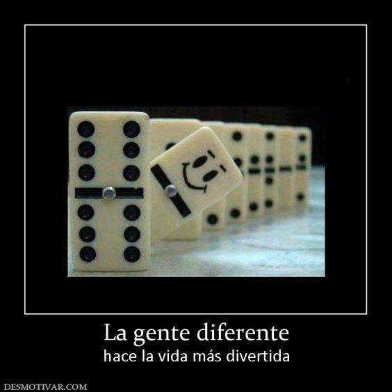 La gente diferente hace la vida más divertida