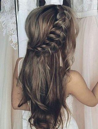 Długie Włosy Na Komunie Fryzury W 2019 Fryzury Fryzura