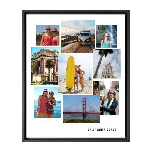 Gallery Collage of Nine Canvas Print, Black, Single piece, 8 x 10 inches