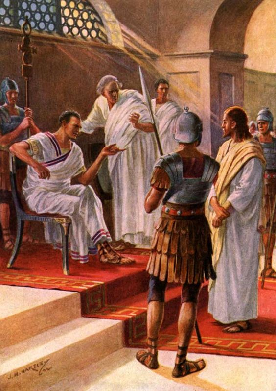 The Trial of Jesus - Jesus questioned by Pontius Pilate