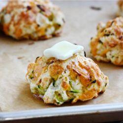 Zucchini Cheddar Drop Biscuits