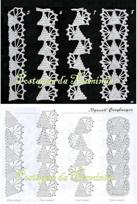 crochet trim chart