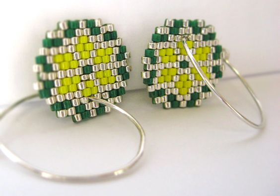 Earrings Nordic Stars Bright Yellow Green and by AmaltheaCph