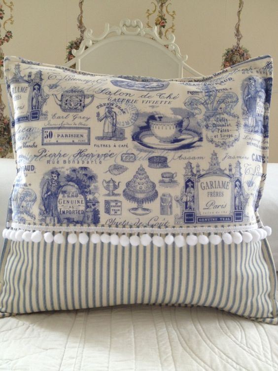 French Country Pillow Cover Shabby Chic Pillow Cover