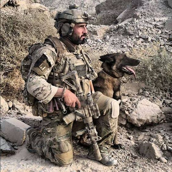 Soldier with K-9