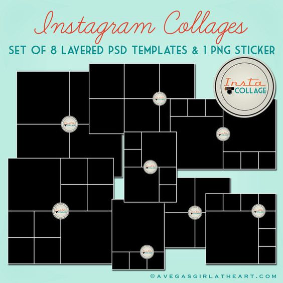 instagram layered psd collage templates 3x4 4x4 4x6 and 6x6 collage template photo walls. Black Bedroom Furniture Sets. Home Design Ideas