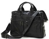 Genuine Leather Men's Briefcase Laptop CrossBody Messenger Bag Handbags