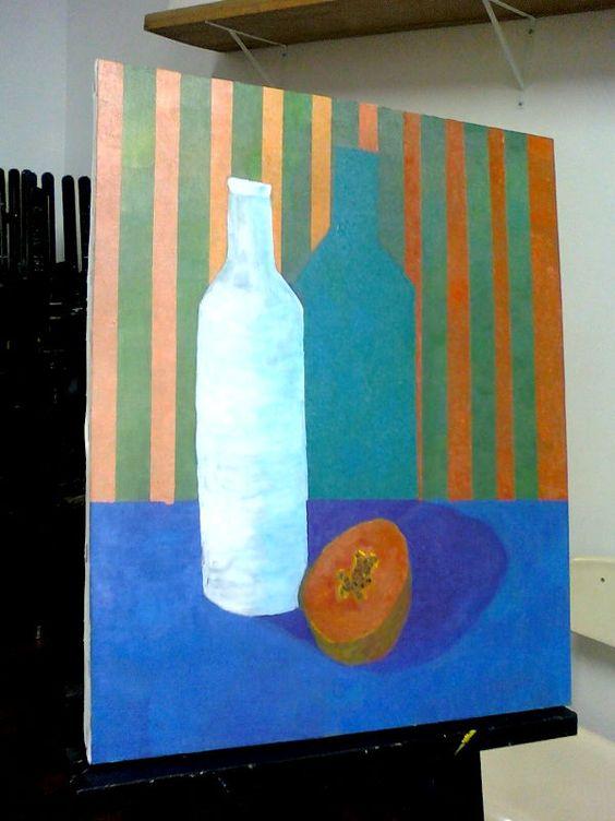 pintura terminada acrílica cores primárias e branco