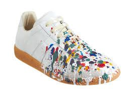 Take a old shoe destroy it with splatter to revamp..cool idea