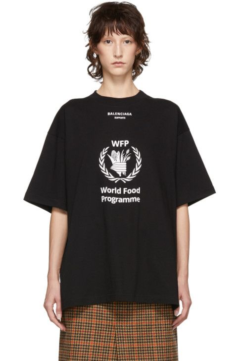 Balenciaga Black World Food Programme T Shirt Balenciaga Clothing Luxury Streetwear Fashion