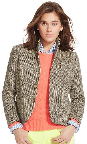 Polo Ralph Lauren Silk-Wool Herringbone Jacket - $139.99
