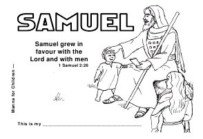 samuel bible coloring pages - printable book click on the picture of samuel bible