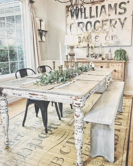However, do you  understand that farmhouse  design is able to make  any type of look, not only  conventional and  country look? If you do not  think it, you can  consider these farmhouse dining table  styles.