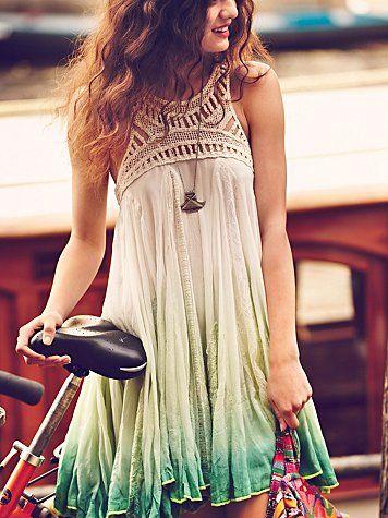 Dip dye boho dress