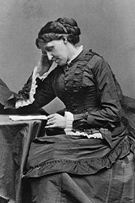 "louisa may alcott - she wrote ""The Little Women"". The girls in my family were named after the girls in this book. My middle name, Beth, came from this book."