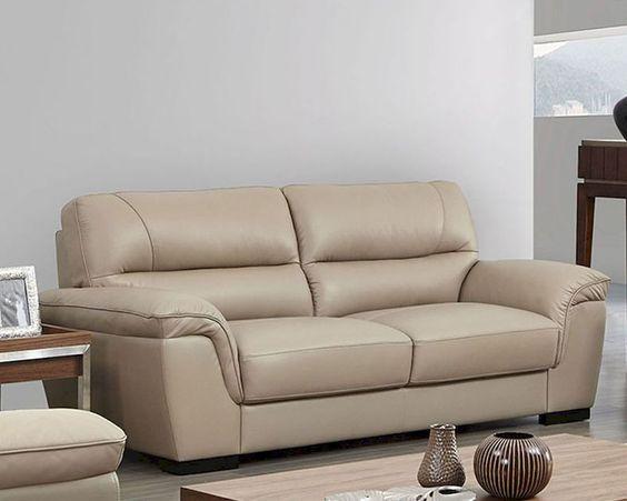 Mua sofa da ở đâu khi trang trí phòng khách với màu kem và màu be