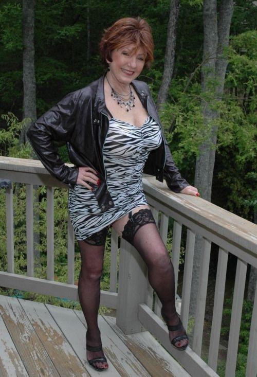Granny sexy dress mature