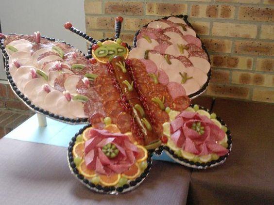 Id e pour le buffet charcuterie pinterest papillons for Idee plat convivial pour 10 personnes