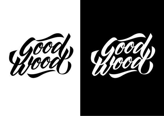 Goodwood logotype  Vectored hand lettering Black & white