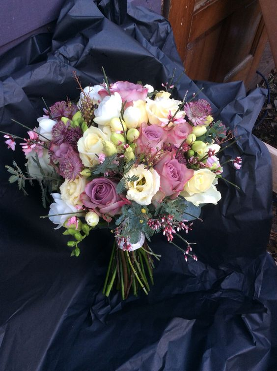 Vintage bouquet #Leicester # wedding flowers
