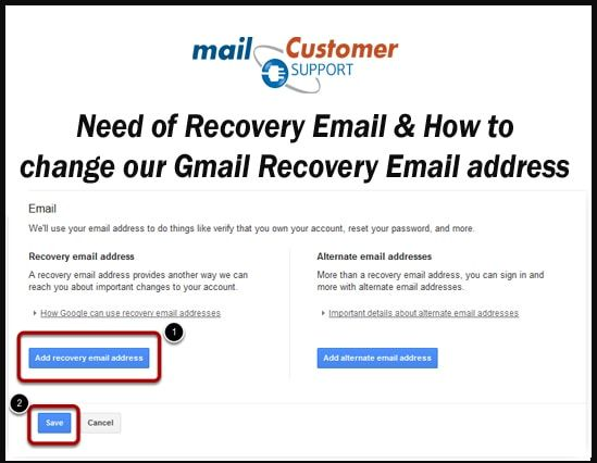 Need Of Recovery Email How To Change Our Gmail Recovery Email