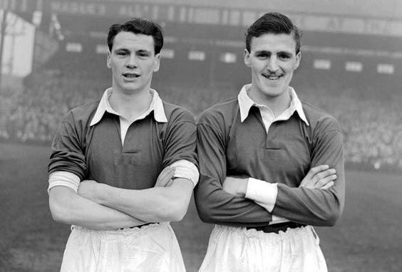 Jimmy Hill and Bobby Robson before an FA Cup tie away at Bolton Wanderers in 1952